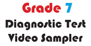 Grade 7 Math Multiple Choice Demo Video Diagnostic Test
